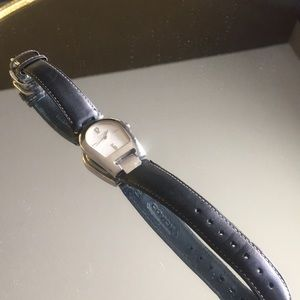 Black and silver coach watch